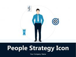 People Strategy Icon Argument Business Marketing Resource Management Growth
