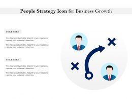 People Strategy Icon For Business Growth