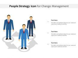 People Strategy Icon For Change Management