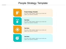 People Strategy Template Ppt Powerpoint Presentation Inspiration Demonstration Cpb