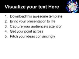 People Talk Globe PowerPoint Template 0610  Presentation Themes and Graphics Slide03