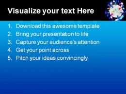 People Talk Globe PowerPoint Template 0610  Presentation Themes and Graphics Slide02