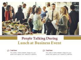 People Talking During Lunch At Business Event