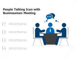 People Talking Icon With Businessmen Meeting
