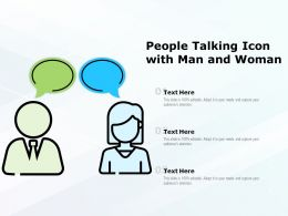 People Talking Icon With Man And Woman