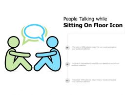 People Talking While Sitting On Floor Icon