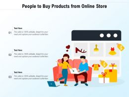 People To Buy Products From Online Store