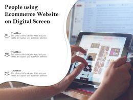 People Using Ecommerce Website On Digital Screen