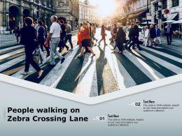 People Walking On Zebra Crossing Lane