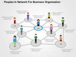 Peoples In Network For Business Organization Flat Powerpoint Design