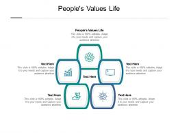 Peoples Values Life Ppt Powerpoint Presentation Portfolio Structure Cpb