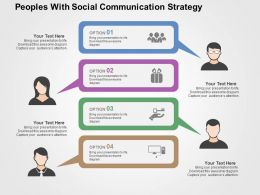 Peoples With Social Communication Strategy Flat Powerpoint Design