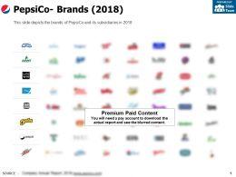 Pepsico Brands 2018