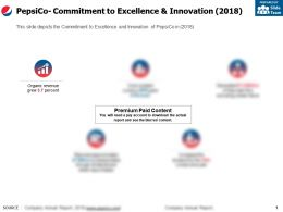 Pepsico Commitment To Excellence And Innovation 2018