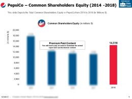 Pepsico Common Shareholders Equity 2014-2018
