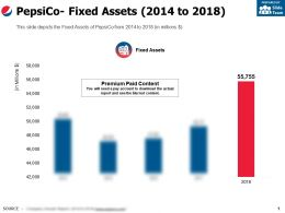 Pepsico Fixed Assets 2014-2018