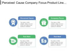 Perceived Cause Company Focus Product Line Revenue Lever