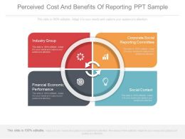 Perceived Cost And Benefits Of Reporting Ppt Sample