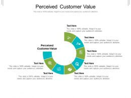 Perceived Customer Value Ppt Powerpoint Presentation Slides Tips Cpb