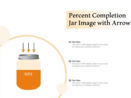 Percent Completion Jar Image With Arrow