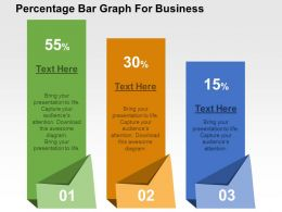 Percentage Bar Graph For Business Flat Powerpoint Design