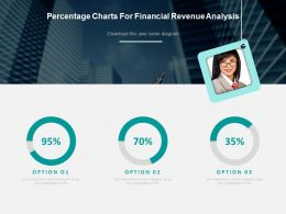 Percentage Charts For Financial Revenue Analysis Powerpoint Slides