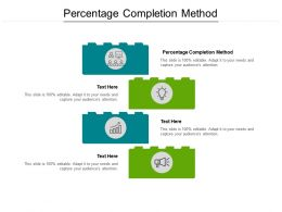Percentage Completion Method Ppt Powerpoint Presentation Gallery Cpb