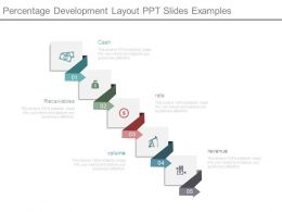 Percentage Development Layout Ppt Slides Examples