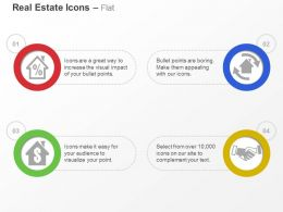Percentage Dollar Business Deal Process Of House Ppt Icons Graphics