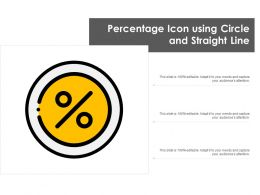 Percentage Icon Using Circle And Straight Line