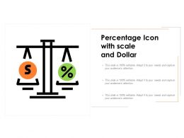 Percentage Icon With Scale And Dollar