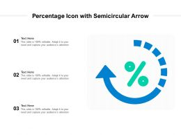 Percentage Icon With Semicircular Arrow