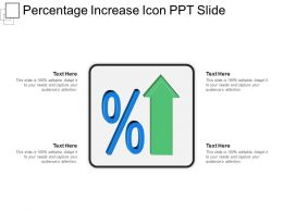 Percentage Increase Icon Ppt Slide