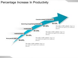 Percentage Increase In Productivity Ppt Example