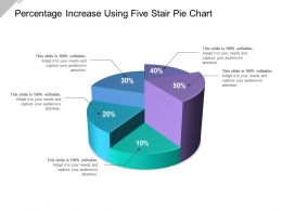 Percentage Increase Using Five Stair Pie Chart