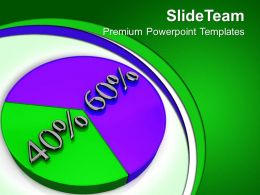 Percentage Of Pie Chart Marketing Powerpoint Templates Ppt Themes And Graphics 0113
