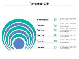 Percentage Sale Ppt Powerpoint Presentation Show Aids Cpb