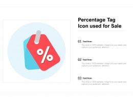 Percentage Tag Icon Used For Sale