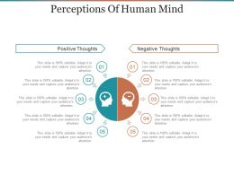 Perceptions Of Human Mind Ppt Icon
