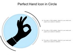 Perfect Hand Icon In Circle