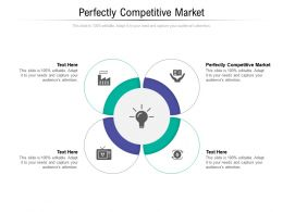 Perfectly Competitive Market Ppt Powerpoint Presentation Summary Ideas Cpb