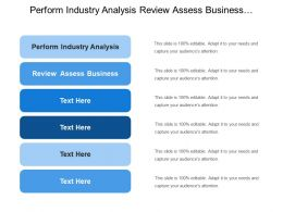 Perform Industry Analysis Review Assess Business Understand Financial Picture