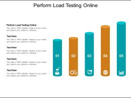 Perform Load Testing Online Ppt Powerpoint Presentation Summary Graphic Tips Cpb