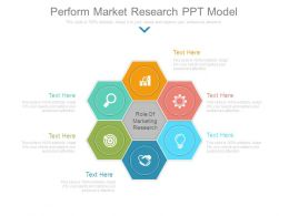 Perform Market Research Ppt Model