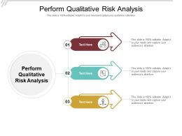 Perform Qualitative Risk Analysis Ppt Powerpoint Presentation Show Graphic Tips Cpb