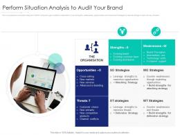 Perform Situation Analysis To Audit Your Brand Internet Marketing Strategy And Implementation Ppt Summary
