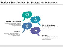 Perform Swot Analysis Set Strategic Goals Develop Control Framework
