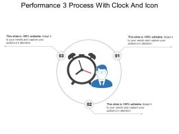 Performance 3 Process With Clock And Icon
