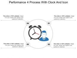 Performance 4 Process With Clock And Icon