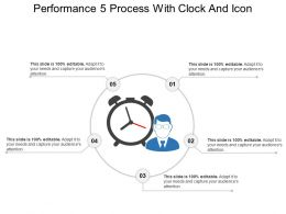 Performance 5 Process With Clock And Icon